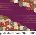 菊花花紋花樣的日本模式 28250085