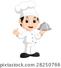 Cute little chef bringing the dishes 28250766