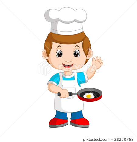 Chef frying egg 28250768