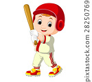 Baseball Player Kid cartoon 28250769