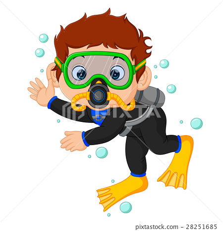diver boy cartoon 28251685