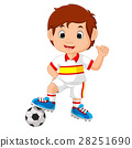 Cartoon child playing football 28251690