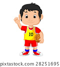 Illustration of a young male basketball player 28251695