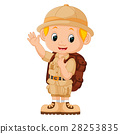 illustration of Boy camping 28253835