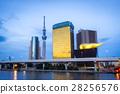 Sumida city skyline sunset with landmark building 28256576