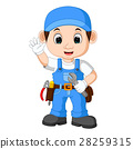 Cartoon illustration of a mechanic 28259315