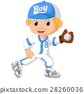 baseball player catching ball 28260036