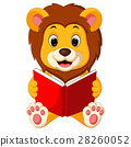 lion reading book 28260052