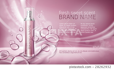 Pink background with moisturizing cosmetic premium 28262932