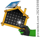 Project of Ecological House with Solar Panels 28263698