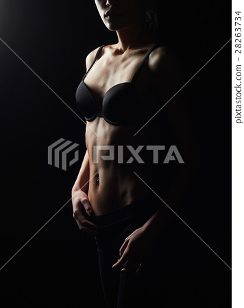 86074d30305 thin young woman in underwear.sexy body girl - Stock Photo  28263734 ...