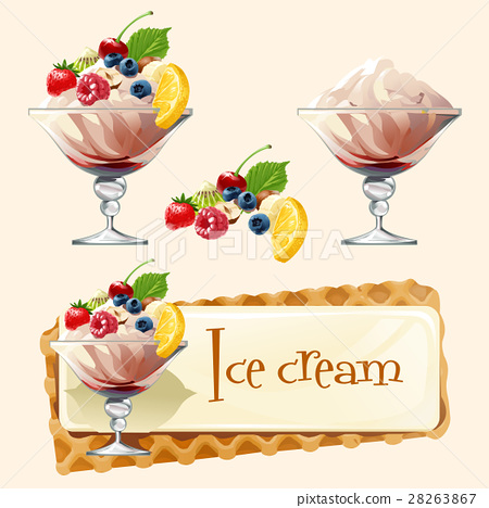 Vector banner with ice cream 28263867