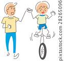 獨輪車 練習 小學生 28265096