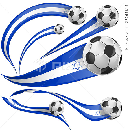 israel flag set with soccer ball 28265813