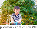 Asian kid riding seesaw board at the playground 28266390