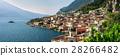 Panorama of beautiful village Limone sul Garda 28266482