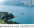 Scenic landscape of beautiful Garda lake,mountains 28266530