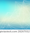 Geometric graphic background molecule and 28267032