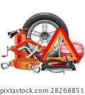 Vector Car Accessories Concept 28268851