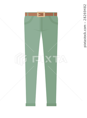 Trousers Unisex Pants Isolated on White Background 28269482