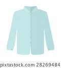 Checkered Grey Shirt Flat Style Vector 28269484