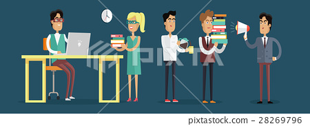 Work in Office Concept Illustration in Flat Design 28269796