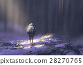 alone astronaut walking in snow 28270765