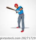 baseball, player, vector 28271729