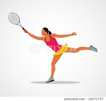 tennis, racket, athlete 28271757