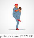 baseball, vector, sport 28271791