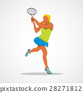 tennis player, silhouette 28271812