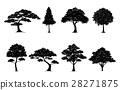 silhouette tree set 28271875