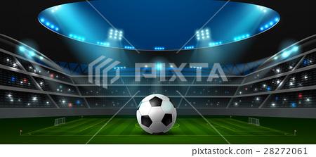 soccer football stadium spotlight 28272061