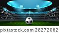 soccer football stadium spotlight 28272062