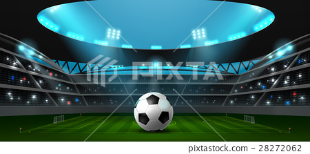 soccer football stadium spotlight 28272062
