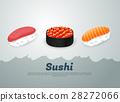 sushi, vector, food 28272066