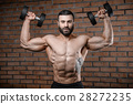 Fitness instructor handsome muscle man in the gym 28272235
