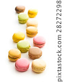 Sweet colorful macarons. 28272298