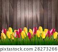 Nature spring background with colorful tulips  28273266