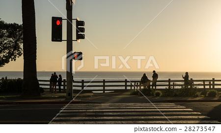 黄昏 圣塔莫尼卡 洛杉矶 28273547