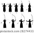 Archery silhouette 28274433