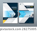 Blue yellow flyer design template, Leaflet cover. 28275005