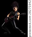 Young woman hard rock artist 28275942