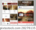 Social media posts set. Business templates 28276135