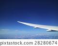 飛機 雲彩 雲 28280674