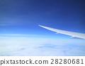 비행기에서 본 푸른 하늘 28280681