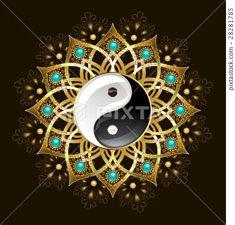 Symbol of yin yang mandala 28281785