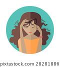 avatar, woman, vector 28281886