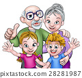 grandparents, cartoon, vector 28281987