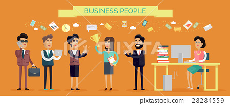 Business People Concept Vector in Flat Design 28284559